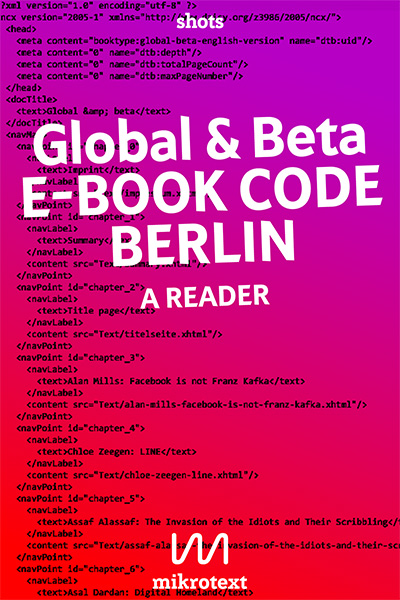 Global & beta. E-Book Code Berlin. A Reader