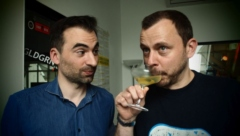 Stefan Adrian mit Moderator Tom Erhardt. Foto: Flux FM